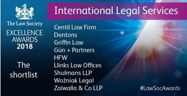 Excellence in International Legal Services to Be Awarded Soon by The Law Society in London - Woźniak Legal